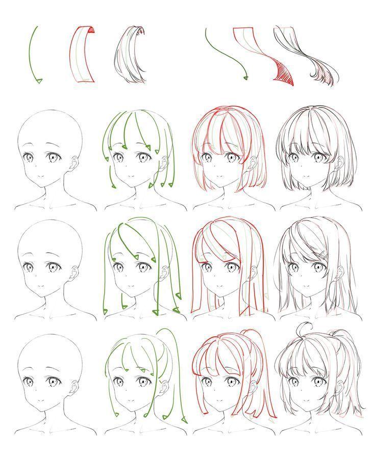 Flowing Anime Hair Reference Edekoralife Site Hairtutorial Hairstyles Anime Drawings Tutorials Anime Drawings Sketches Manga Drawing Tutorials