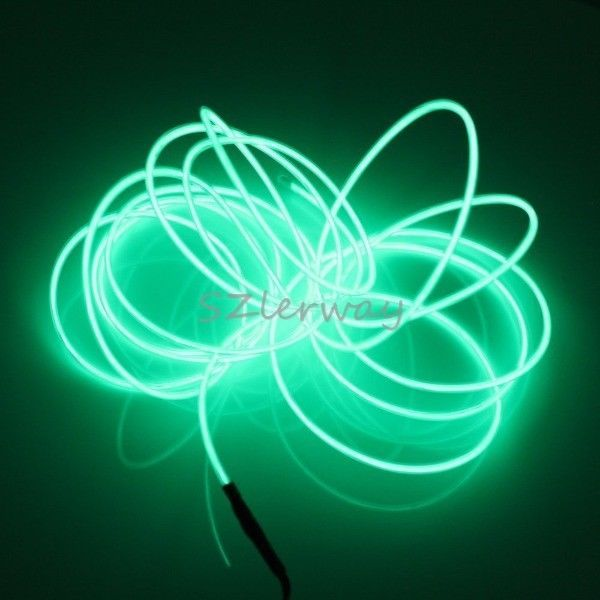 New 5M Rope Green LED Light Strip Lamp EL Wire Cable for Christmas Eve New Year