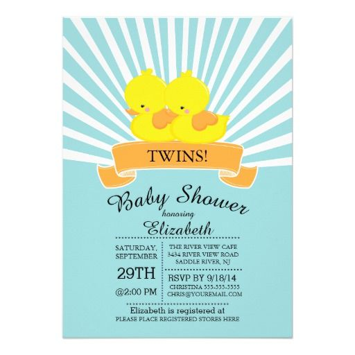 438 best Duck Baby Shower Invitations images on Pinterest Duck