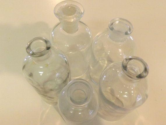 2 vintage piccola farmacia chimica bottiglie - vaso, mestiere, decorazioni per la casa
