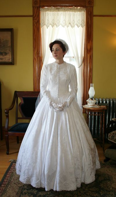 civil wedding dresses civil war era wedding gown exquisite history dress 2970