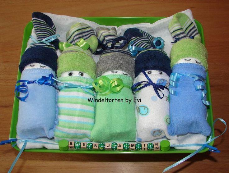 Windelbabys 'Junge', supersüsse Windeltorte! von Windeltorten By Evi auf DaWanda.com