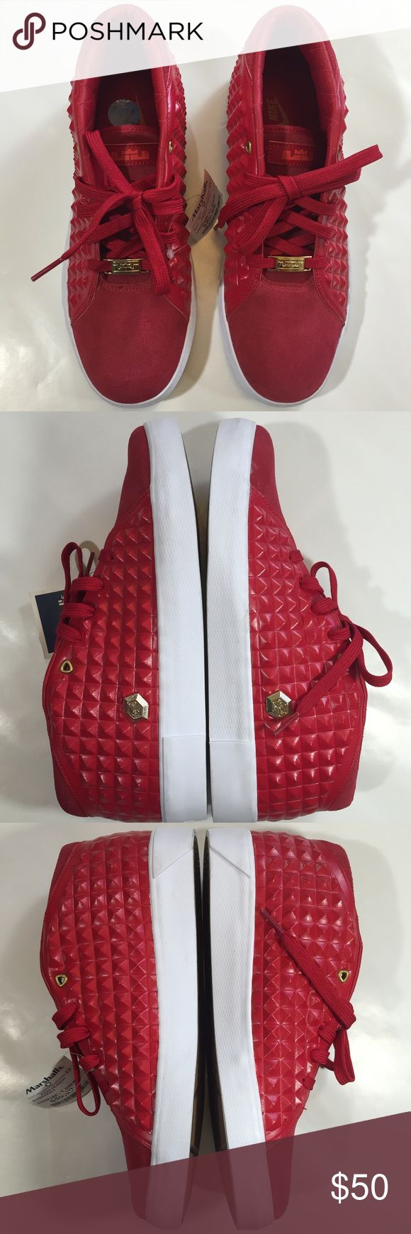 Nike lebrons James XIII lifestyle shoes red Shoes were bought at Marshalls never worn the pair were the display at the store. Nike Shoes Sneakers