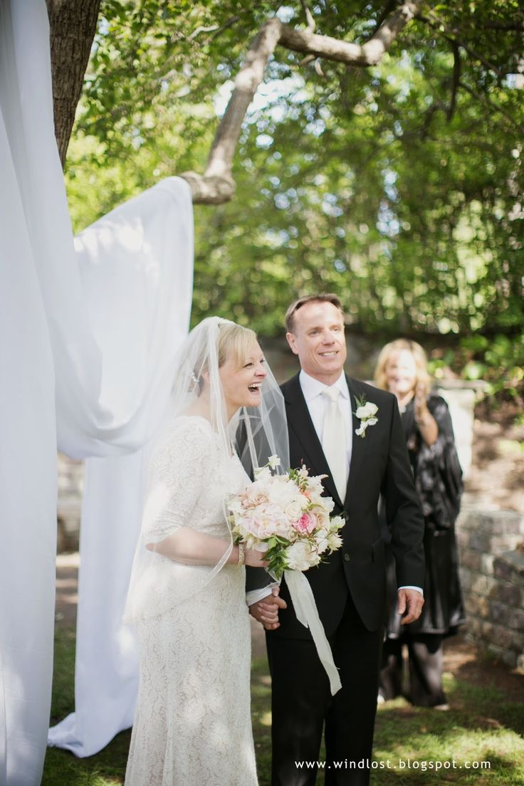 ~ Wind Lost ~ our elegant small June garden wedding outdoor ceremony