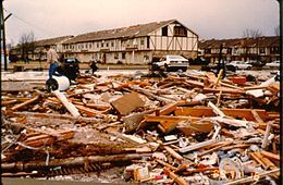 The strong F4 tornado struck Huntsville, Alabama on November 15, 1989, killing 21 people and injuring nearly 500