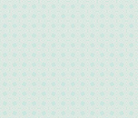 aqua diamonds fabric by ywana on Spoonflower - custom fabric