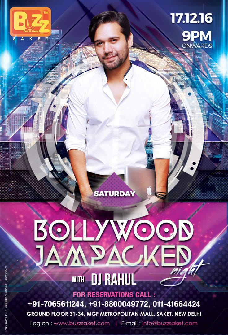 Celebrate your weekend with a bang and dance all night with total craziness at BUZZ Saket, its Saturday Bollywood Jampacked nights with DJ RAHUL, 9pm ONWARDS.  Couples & Ladies Entry free Till 11 pm For Reservations: 7065611244, 8800049772, 011 41664424 #Weekend #Saturday #Nightlife #Party #Club #Music #Drink #Dance #Booze #Food #Bar #Beer #Offer #delhi #Events #Buzzsaket