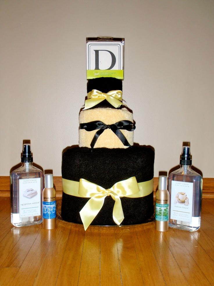 best homemade bridal shower gifts%0A Bridal Shower Towel Cake   Cammi Lee Events  Bridal Shower DIY  Towel Cake