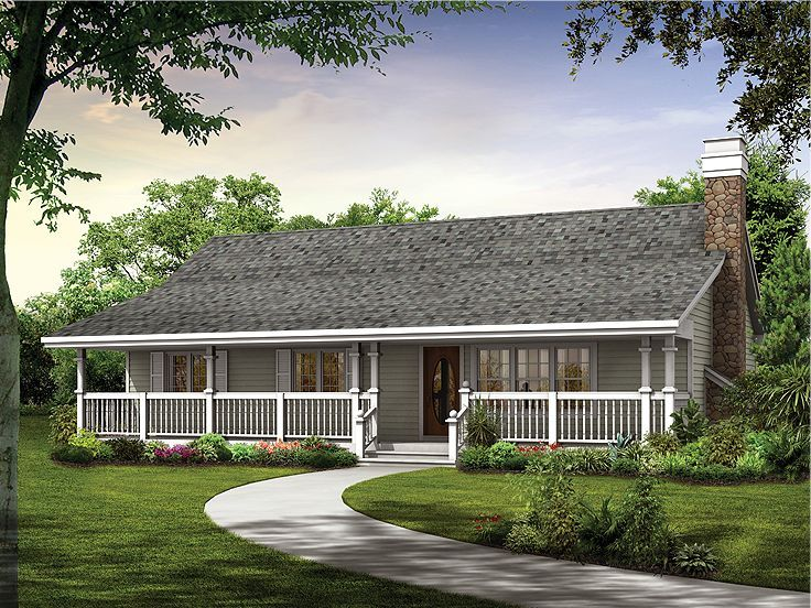 Eplans Farmhouse House Plan   Magnificent Verandah   1344 Square Feet And 3  Bedrooms From Eplans   House Plan Code
