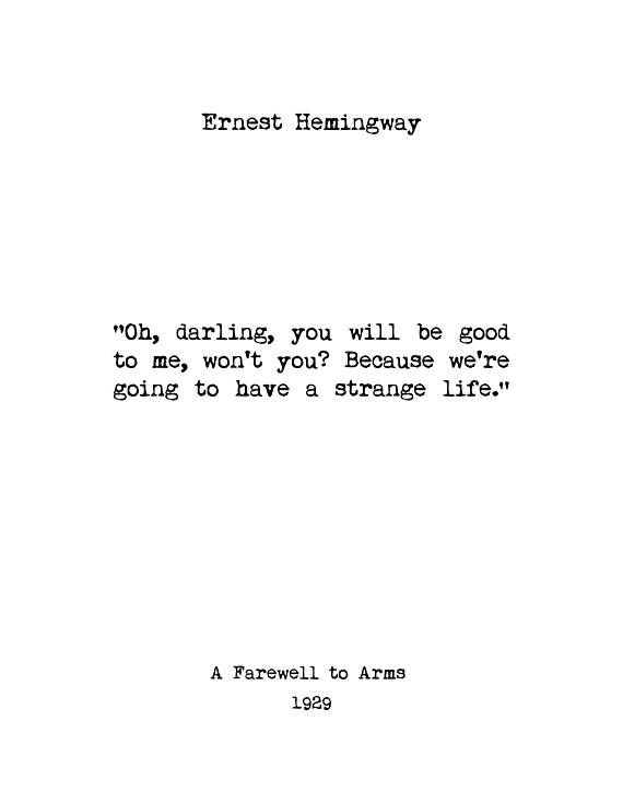 Ernest Hemingway Wall Art Book Quotes Home Decor Book Lover Gift Inspiring Quotes Vintage Art Minimalist Art Library Art Literary Quotes Book Quotes Inspirational Quotes