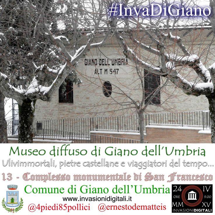 Giardini san Francesco innevati #InvaDiGiano2015 #invasionidigitali