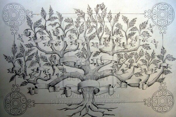 Lovely family tree for wall
