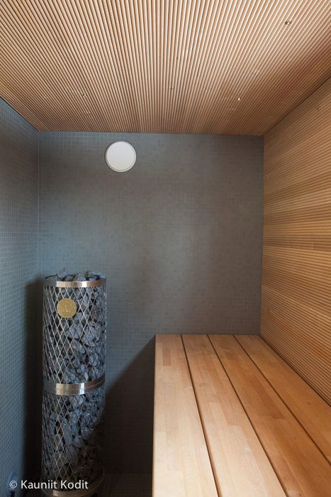 Grey walls, light wood: a great matching contrast