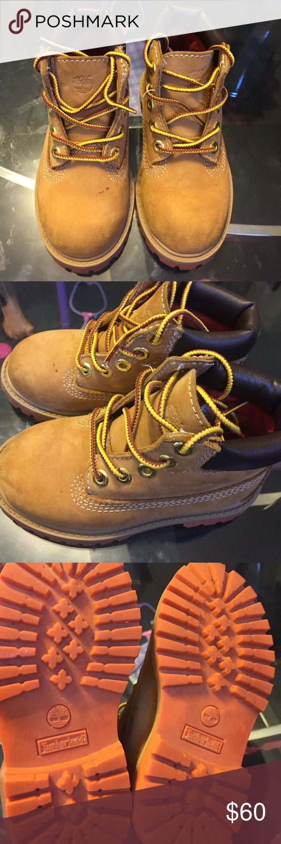 Timberland for toddlers Size 8 timberland for girls are boys 100% authentic worn a twice looks brand new Timberland Shoes Boots