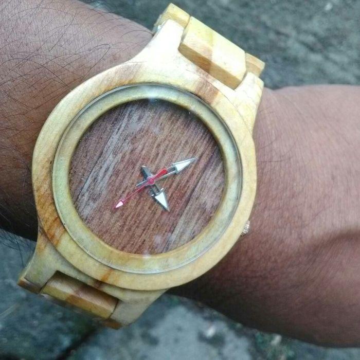 jam tangan kayu maple