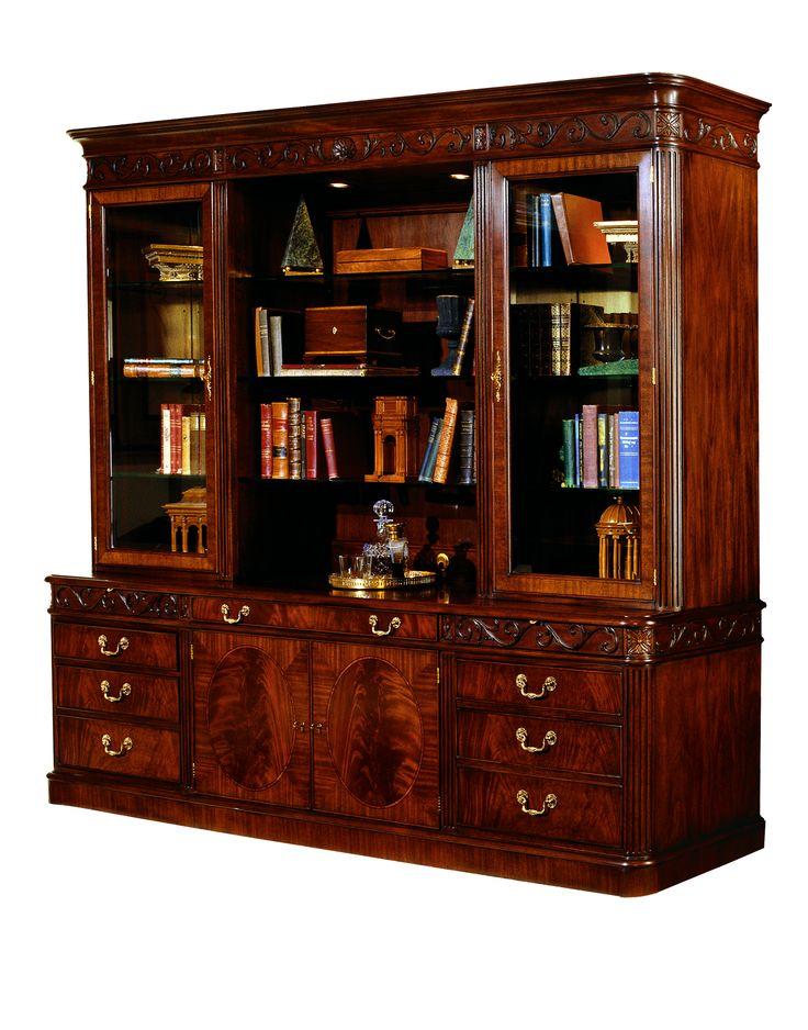 HHBC96 Executive Bookcase with HHCR96 Executive Credenza