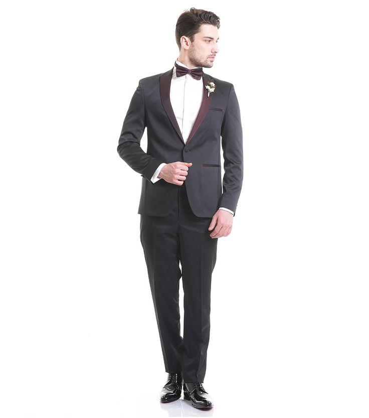 Toss Erkek Slim Fit 6 Drop Seremoni Takım Elbise - Siyah