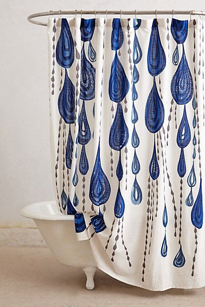 Droplets Shower Curtain #anthropologie