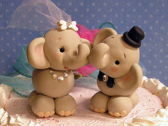 Elephant cake toppers!