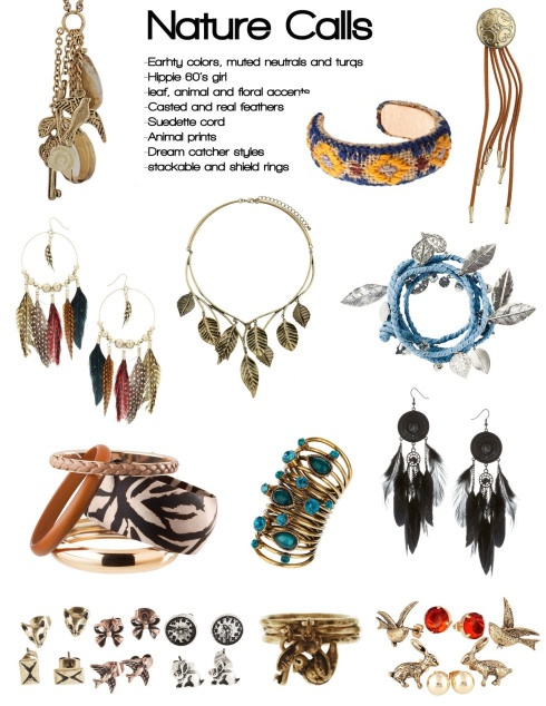 Nature Calls jewelry collection.