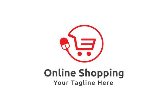 Online Shopping Logo Template by Logo20 on @creativemarket