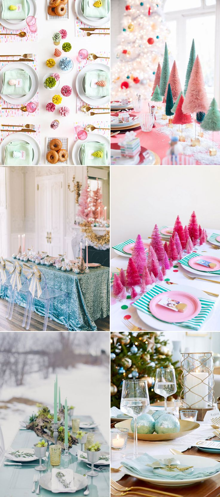 Pink christmas table decorations - 32 Beautiful Christmas Table Decoration Placesetting Ideas