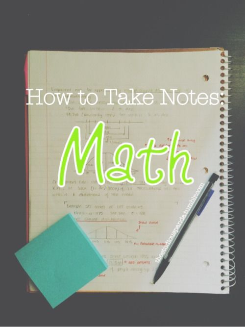 "Soooo it's no secret sometimes finding the best technique to take notes can be tough, especially towards the beginning of the school year when you haven't taken notes for at least two months. Math can be especially tricky because people often say ""how do you study for math?""… [[MORE]] Over the years, I've tried a few different styles of math notes and a few different styles of studying them, and came to the conclusion that my ability to do math really came from how well I could memorize…"