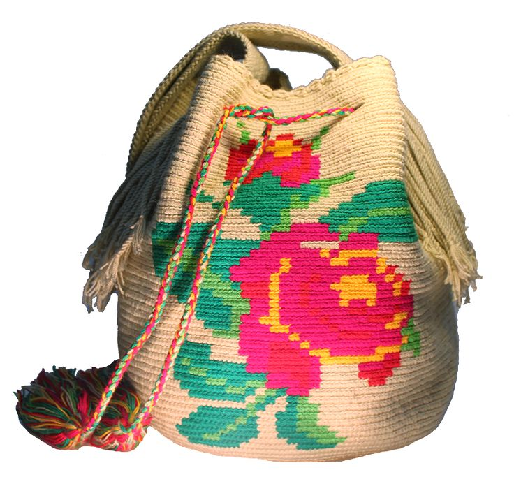 Rose Wayuu Bag