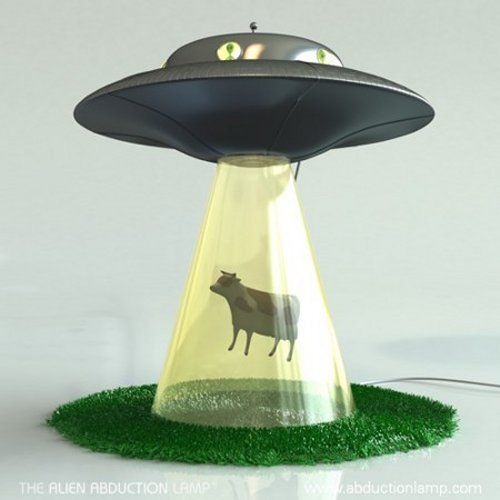 Alien abduction lamp - I want this. Yes, for my home. And yes, I am a grownup, too. I'd put it in the dining room, I think, and laugh and laugh and laugh every time I caught sight of it.