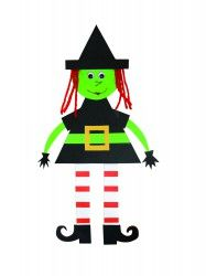Make your own paper witch with this fun activity