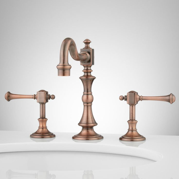 Vintage Widespread Bathroom Faucet - Lever Handles | starting at $239.95 | signature hardware .com