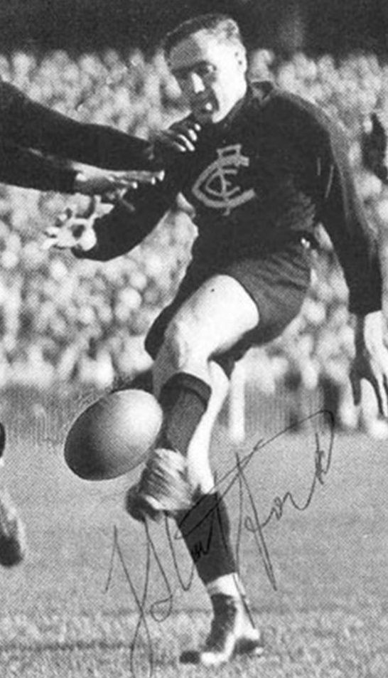 Fred Stafford kicked the goal in the last few seconds of the 1947 VFL Grand Final for Carlton to defeat Essendon by one point. He played 102 games for Carlton from 1947 to 1952.