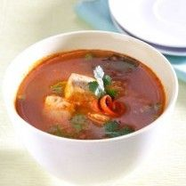 SUP TOMAT TUNA DAUN KETUMBAR Sajian Sedap - Tuna Tomato soup with cilantro