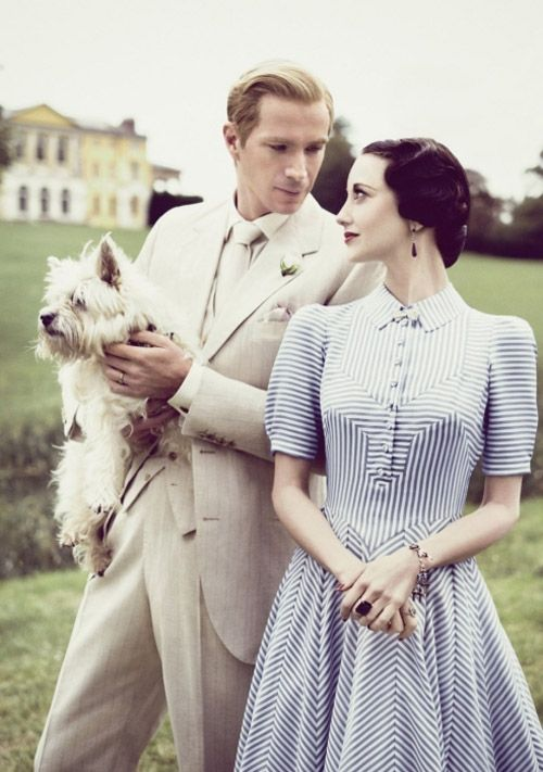 W.E. (2011) Andrea Riseborough as Wallis Simpson and James D'Arcy as King Edward VIII.