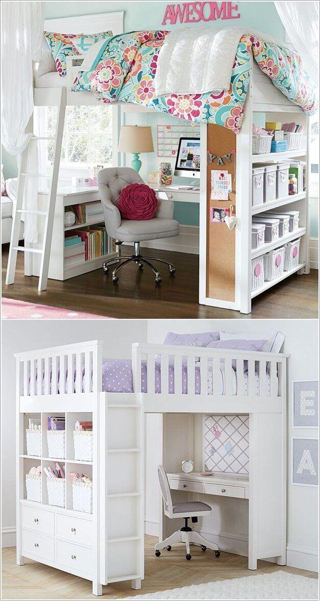 6 platzsparende Möbelideen für kleines Kinderzimmer – #für #Kinderzimmer #kle…