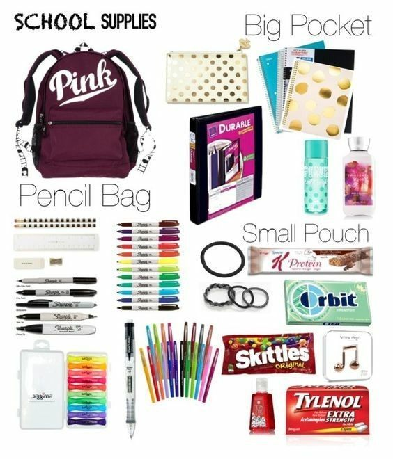 Things you need for the first day of school !!!!!!! # # use # thing # first – Back to school