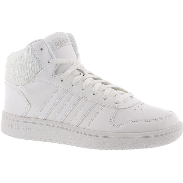 size 40 c430b bc193 adidas VS Hoops Mid 2.0 W Women s White Basketball ( 65) ❤ liked on  Polyvore featuring white