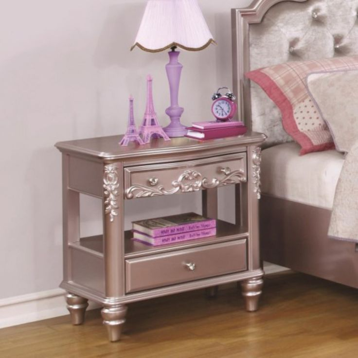 Coaster Furniture Caroline Night Stand with Rosette Knobs   – Products