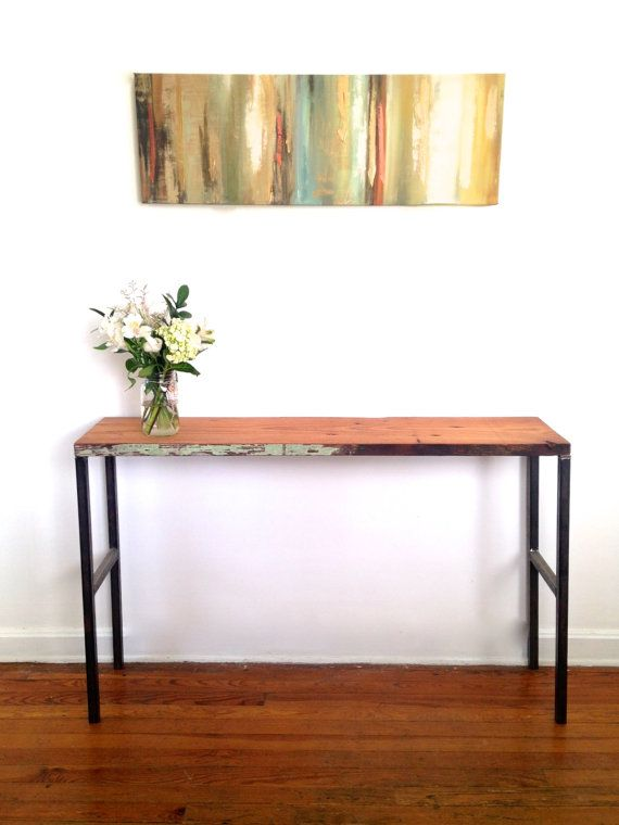 reclaimed wood small console table. perfect as an entryway table to hold keys, bags, etc.