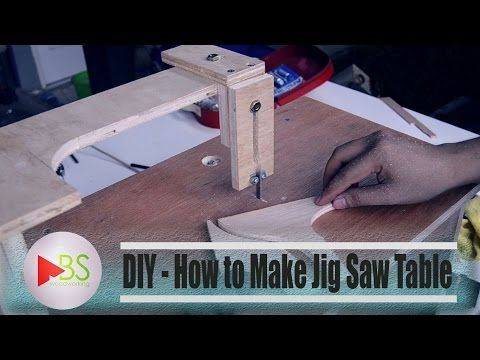 Some talking about my homemade jigsaw table - YouTube