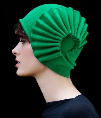 Fabulous Vintage Style Hat from Behida Dolic Millinery, fall, winter, fashion, hat, green hat, deco,