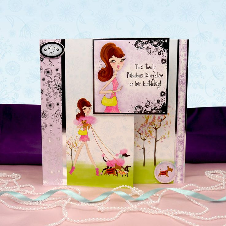 All the Girls by Hunkydory Crafts. Card made using 'A Girls' Best Friend' topper set