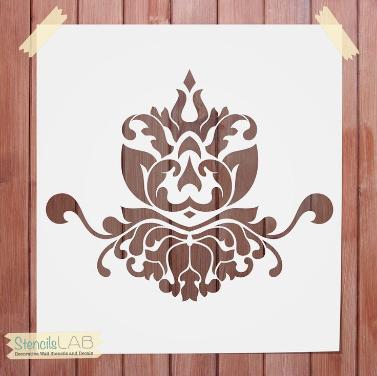 The Damask pattern is truly versatile. You can use it in any room, and in any type of climate: kitchen, bathroom, on the wall, or on the floor. With our stencil transforming the interior design of you