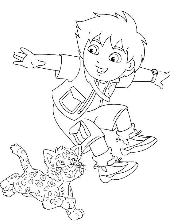 coloring pages dora and diego printables | 166 best images about dora coloring pages on Pinterest