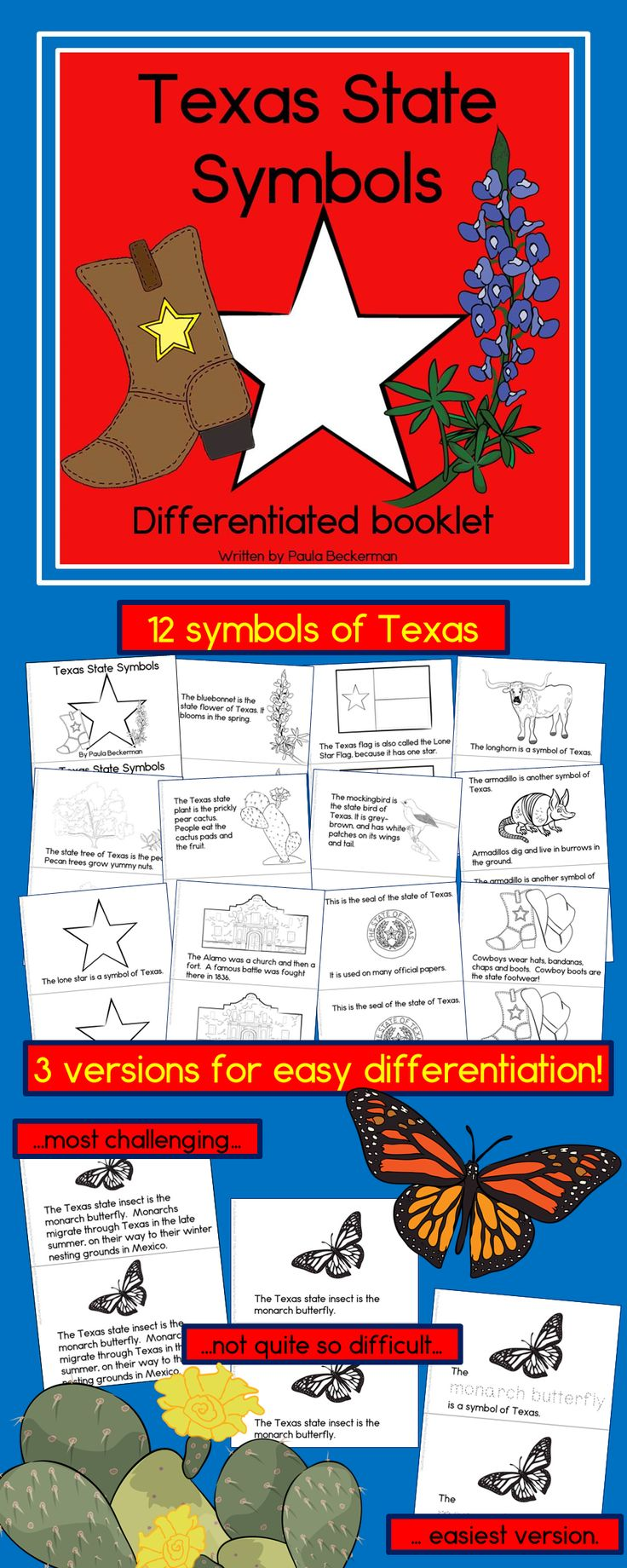 221 best texas wild west and cowboys images on pinterest cowboy texas state symbols 3 differentiated guided reading books buycottarizona Images