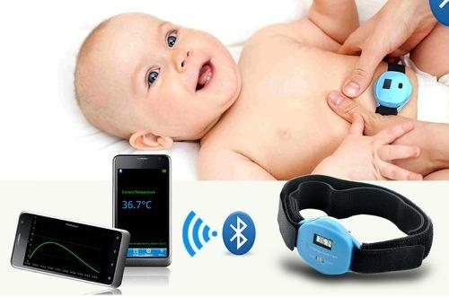 Termometro Digital Bebe Bluetooth Dispositivos Android Baby - $ 199,00