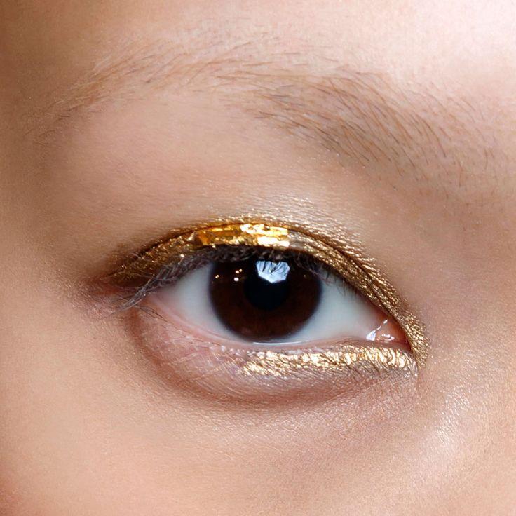 Maquillage yeux marron doré
