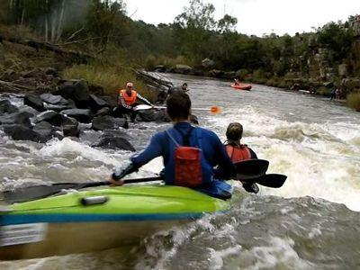 K2 river canoe race on the Klip River, South Africa