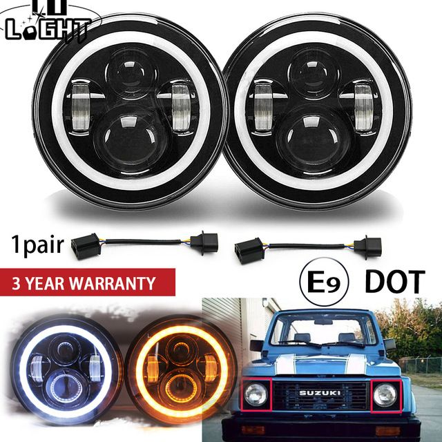Co Light 1 Pair 7 Running Lights 50w Hi Lo H13 Led Headlight