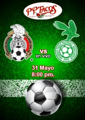 México vs Nigeria en PPTacos